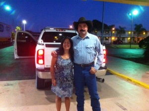 Gus and Ana.  A true cowboy from head to toe.